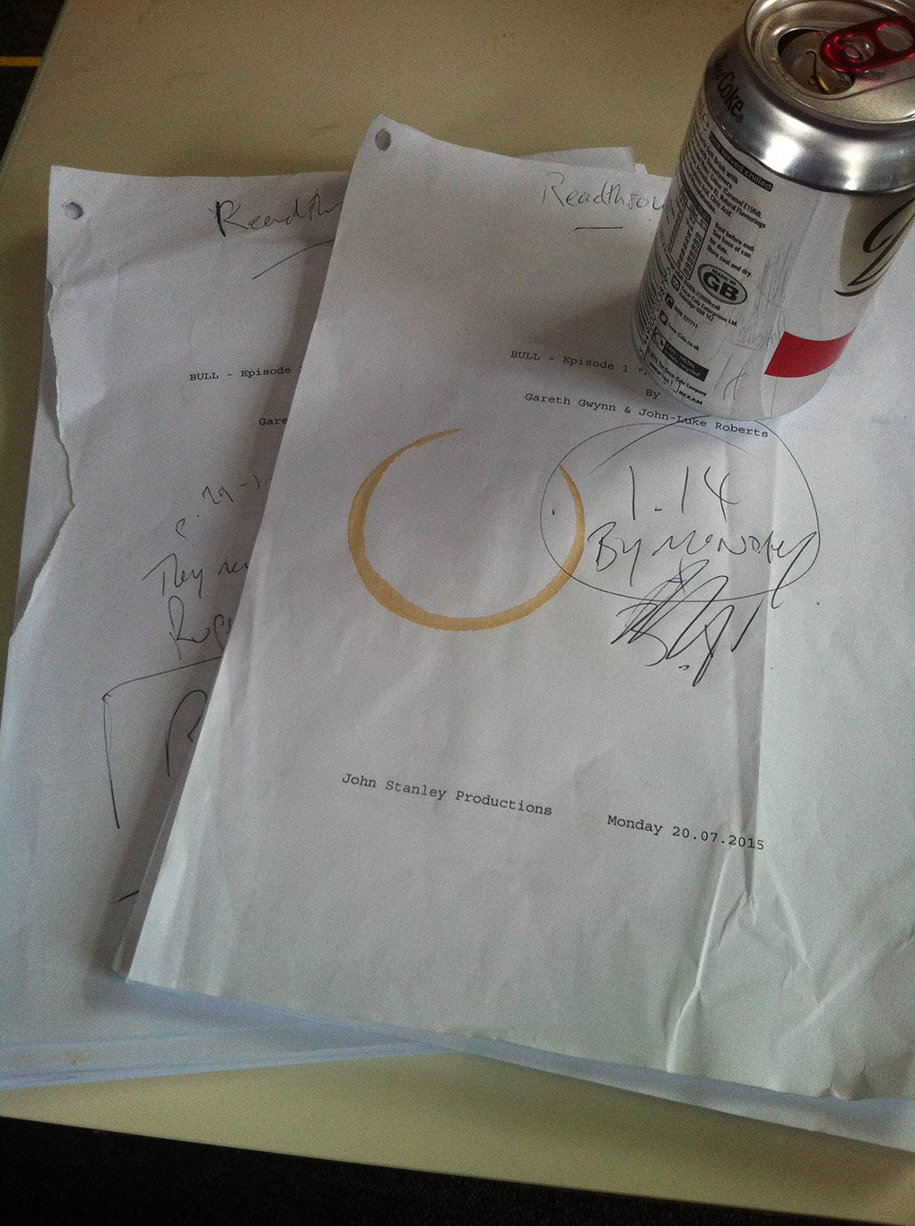 script and diet coke