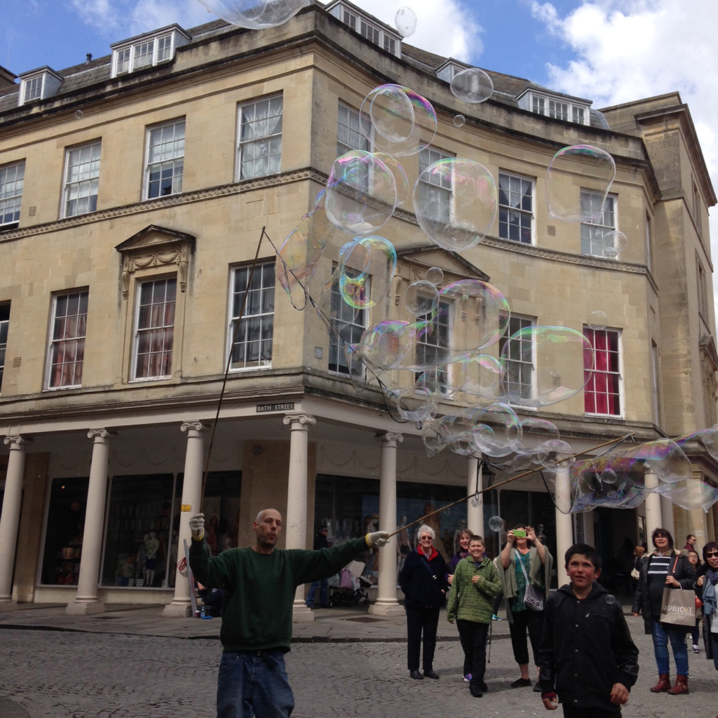 bubbles in bath