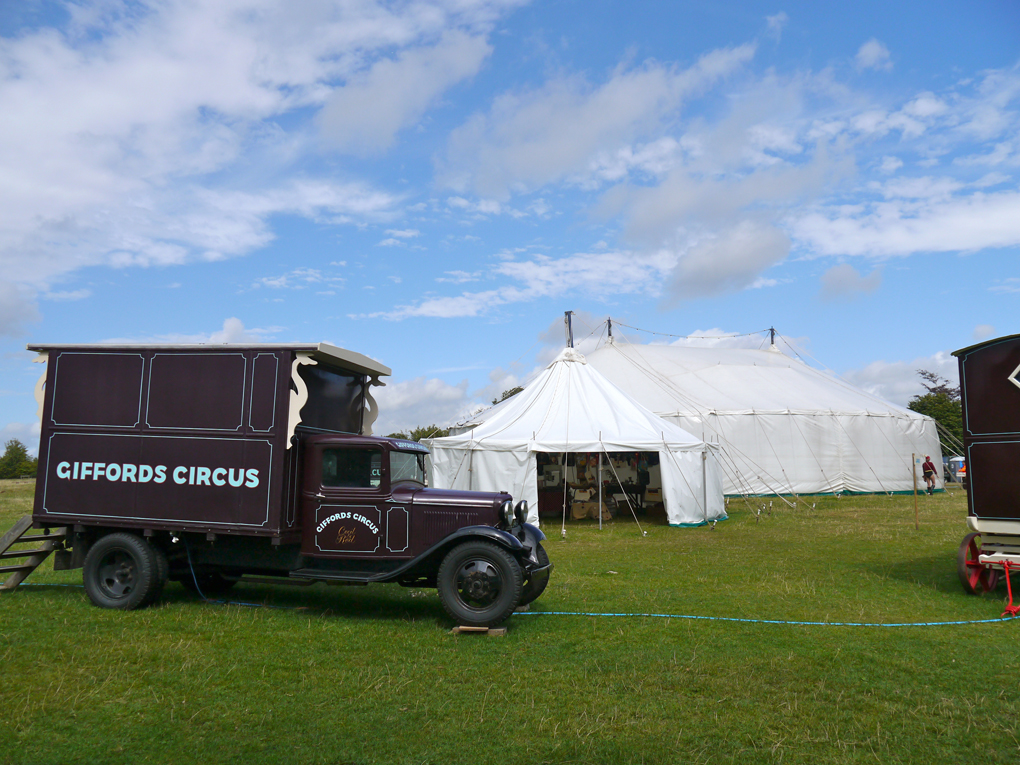 circus vans and tents