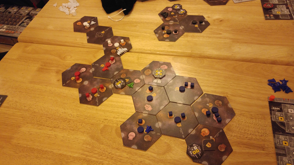 a game of eclipse in progress
