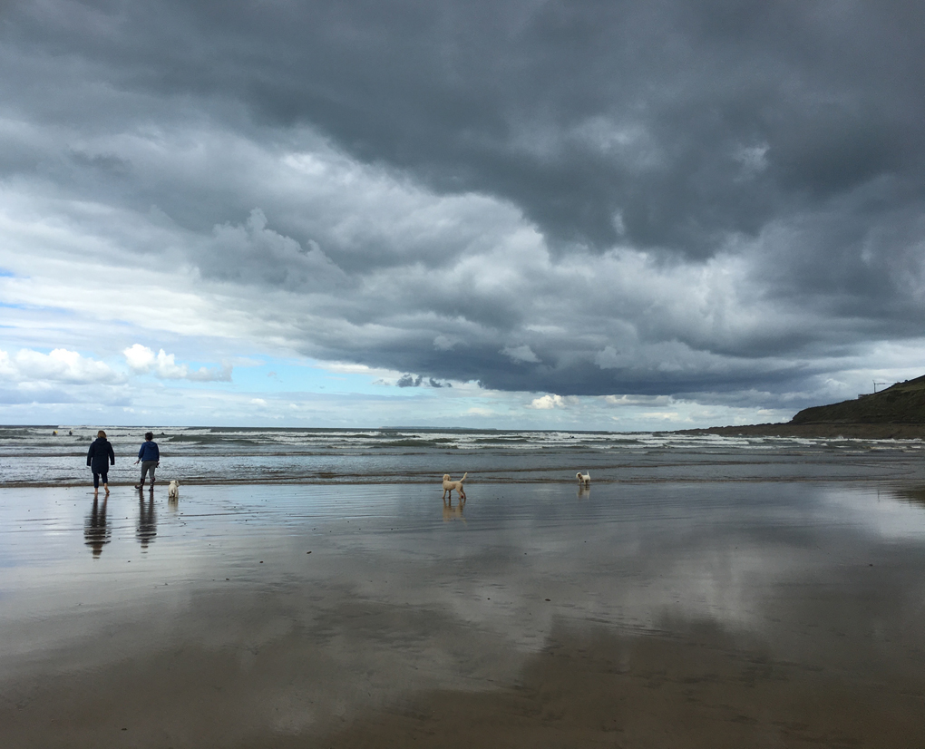 dramatic sky at the beach