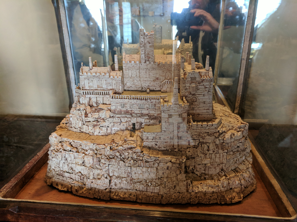 cork model of St Michael's Mount