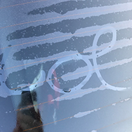 writing on car window