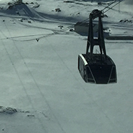 ski lift on a snowy mountain