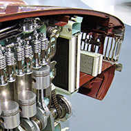 cutaway of MGB engine