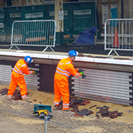 construction at Bath train station