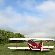 aeroplane on a campsite