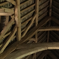 wooden roof from the inside