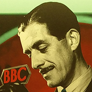 BBC poster of first television announcers