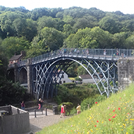 iron bridge over gorge