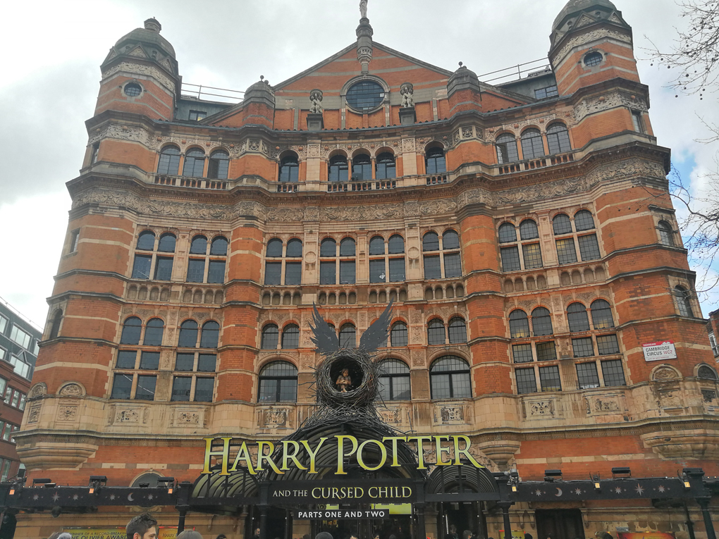theatre showing Harry Potter and the Cursed Child