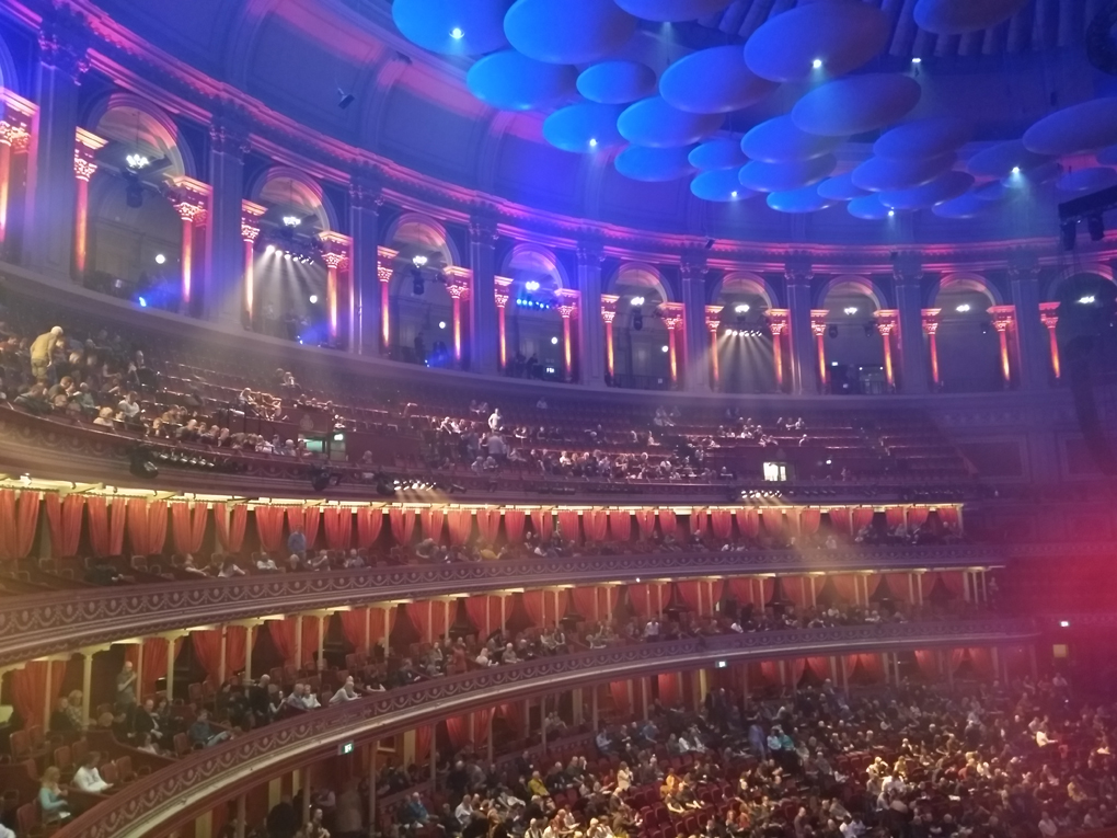 view across the Albert Hall