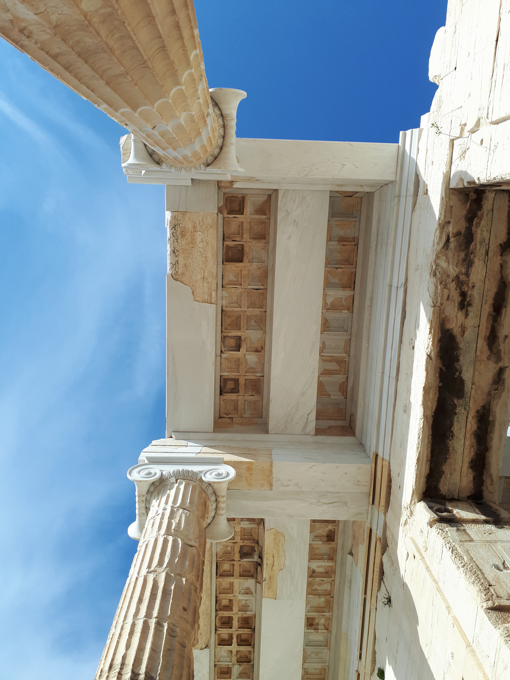 roof of the Parthenon