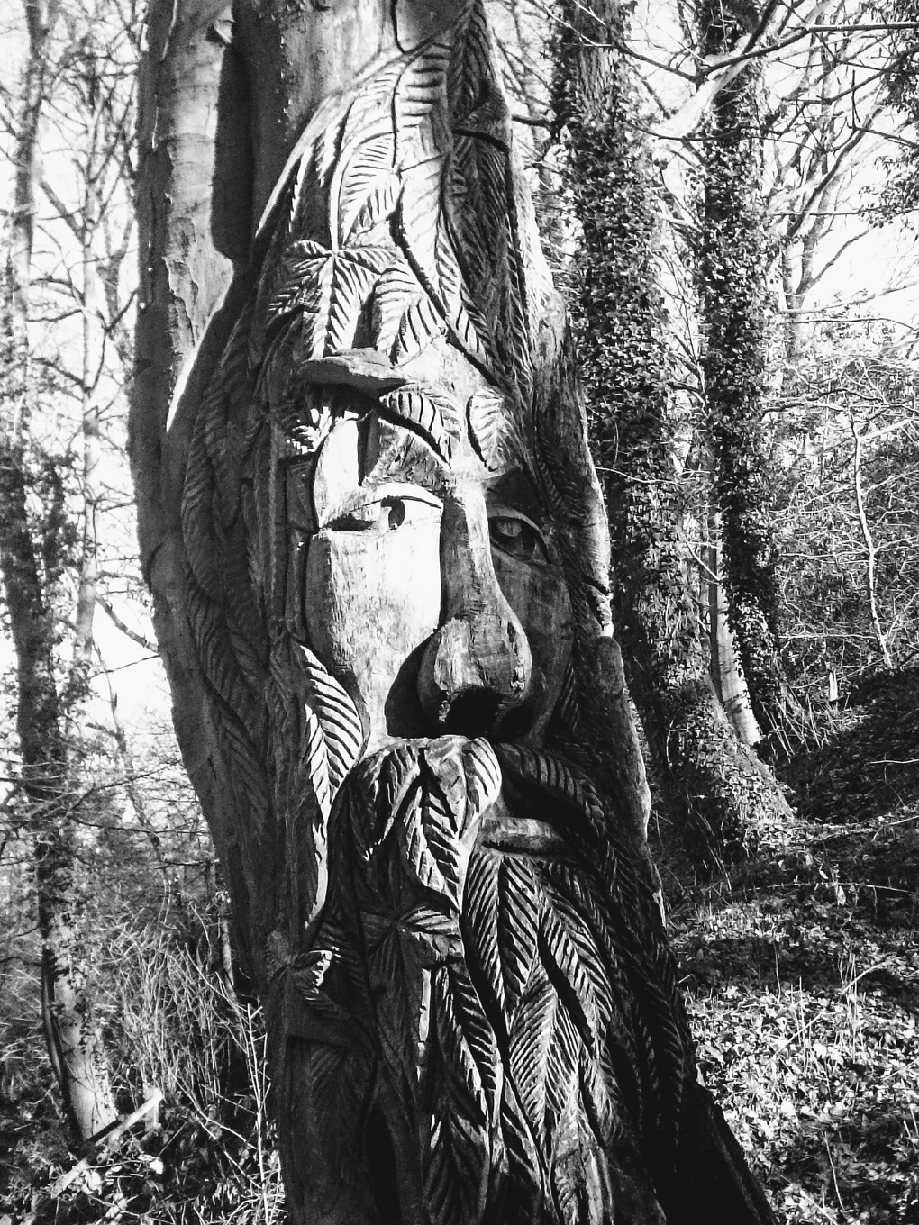 green man in the trees