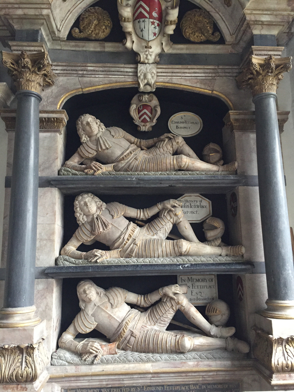 statues of reclining dukes