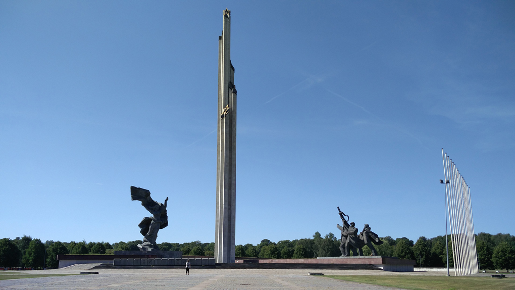 tall monument in Latvia