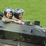 people in a tank