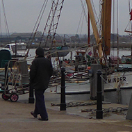 Old Thames sailing Barges at Hythe Quay, Maldon