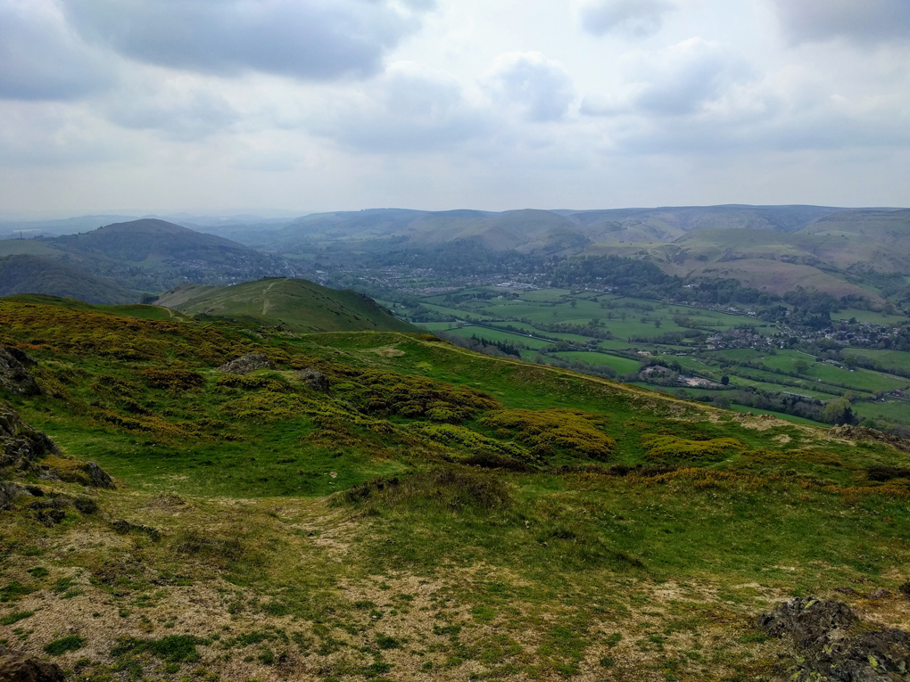 A view from the summit of Caer Caradoc towards Church Stretton.
