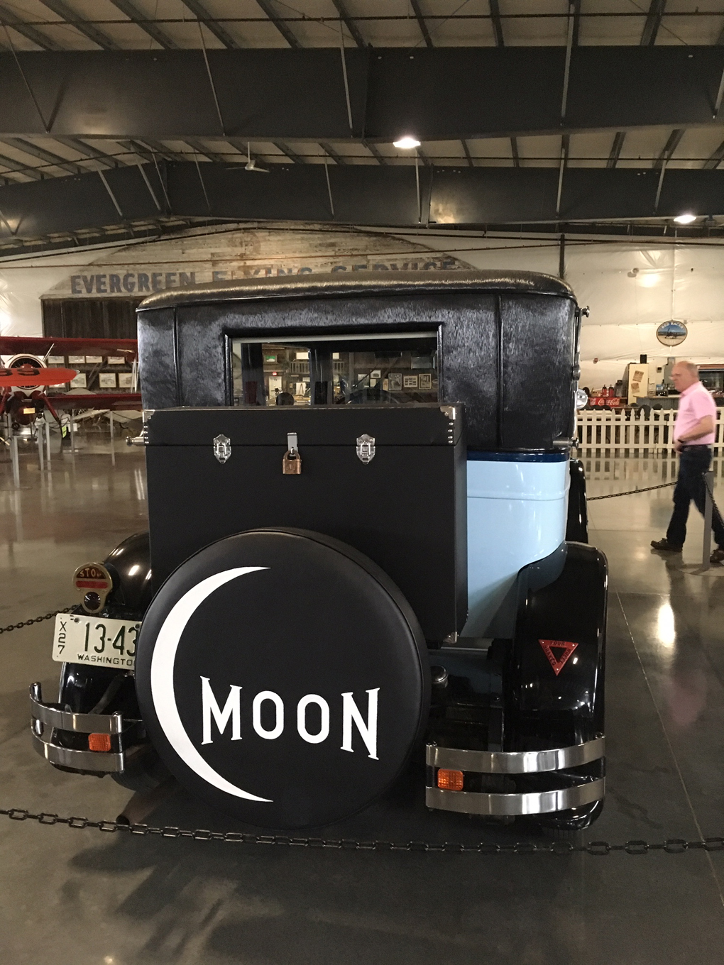 A vintage car built by the Moon company