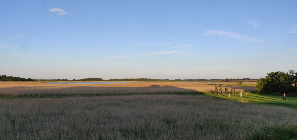 The view across the River Alde towards Aldeburgh from Snape Maltings
