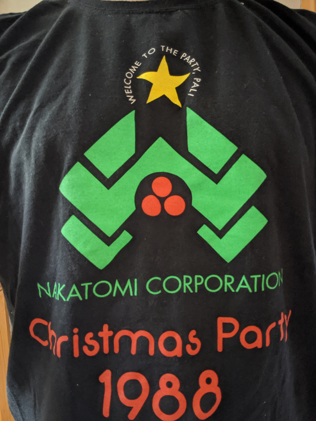 A photo of the nakatomo Christmas party 1988, a reference to the film Die Hard