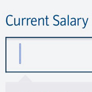 Form input for salary amount, with guidance not to exceed 4000 characters