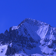 Shot of a Mountain in the Southern Alps ski resort of Val cenis fills the frame