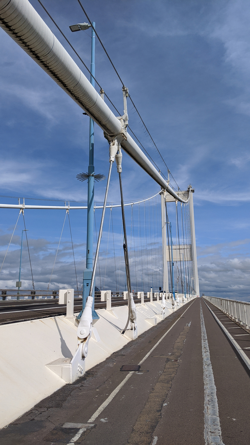 A photo taken on the walking-path of the Severn Bridge