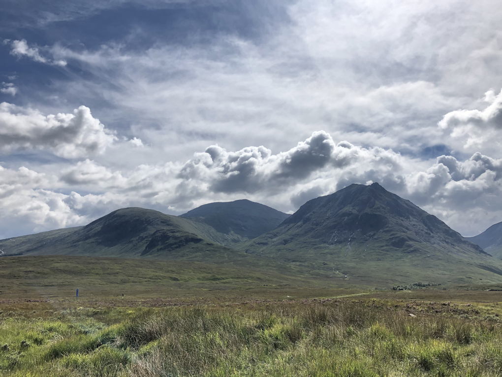 Glen Coe in the sunshine