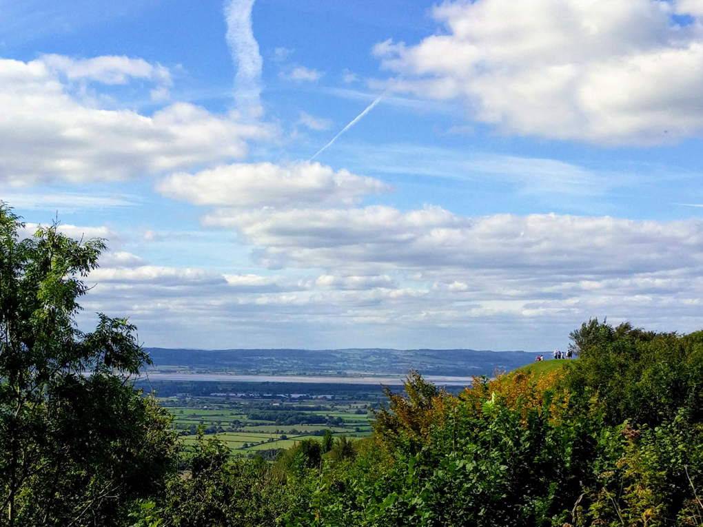View from Coaley Peak across the River Severn to the Forest of Dean.