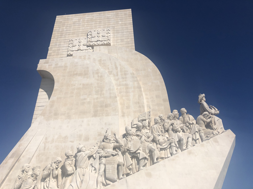 Statue of the Monument to the Discoveries in Lisbon