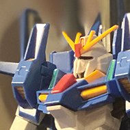 A Bandai high grade model of a Gundam kit