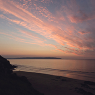 Sunset over Castlerock Beach, Northern Ireland